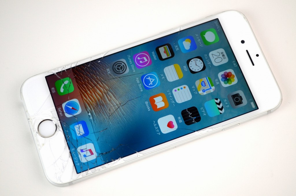 液晶ガラス割れ SoftBank iPhone6 16GB シルバー MG482J/A買取ました!