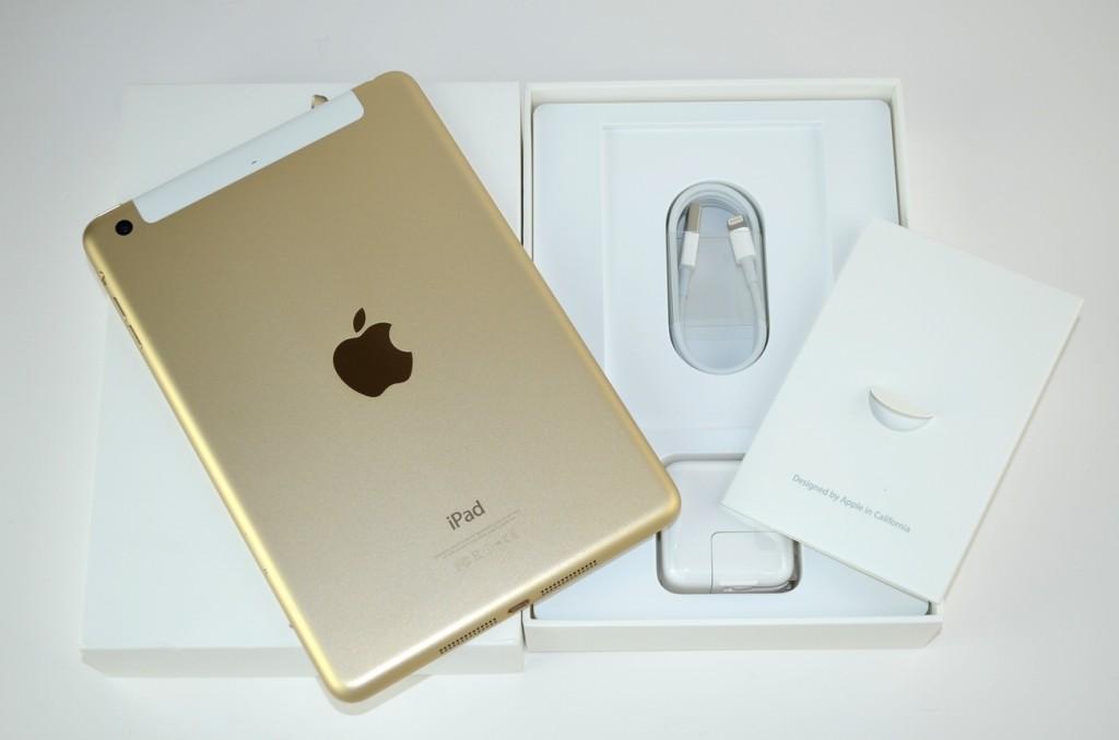 中古au iPad mini3買取ました!16GB ゴールド MGYR2J/A Wi-Fi+Cellular