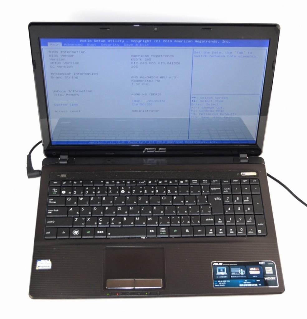 壊れたノートパソコン買取ました!ASUS K53TK-SX0A6