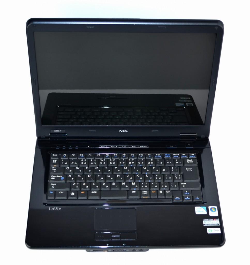 壊れたノートパソコン買取ました!NEC LL550/T PC-LL550TG1YB