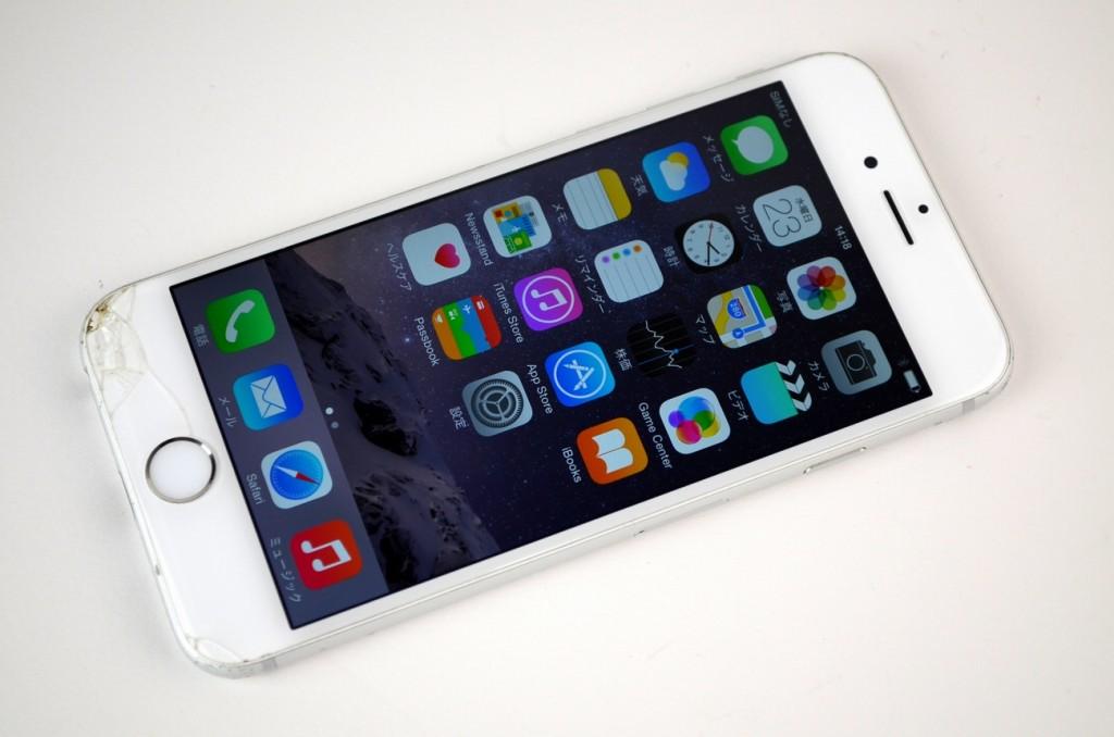 画面割れau iPhone6 16GB買取ました!シルバー MG482J/A
