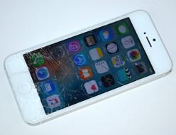 画面割れiPhone5 32GB買取ました!SoftBank ホワイト MD300J/A