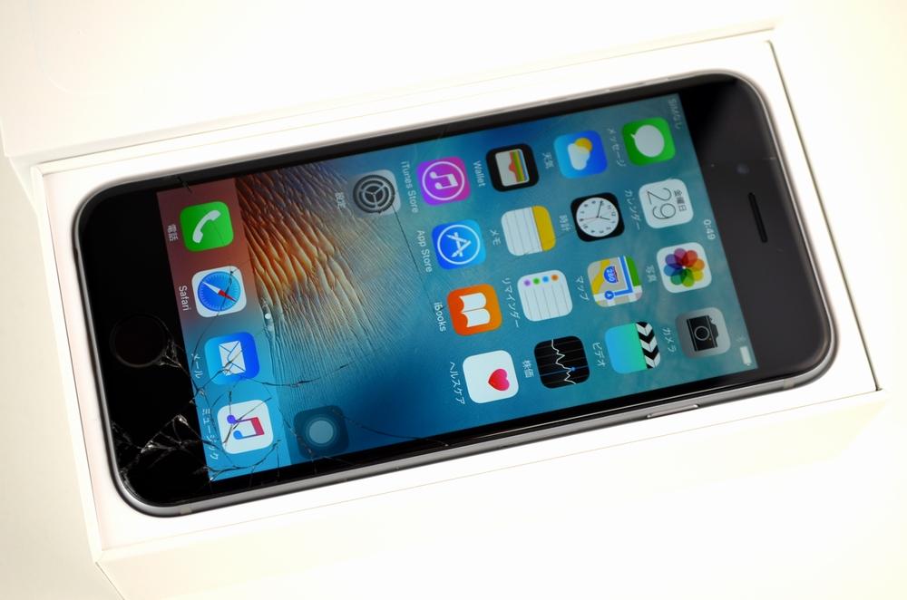 ガラス割れSoftBank iPhone6買取ました!64GB MG4F2J/A スペースグレイ,iPhone買取は福岡博多ジャンク品ジャパンまで!