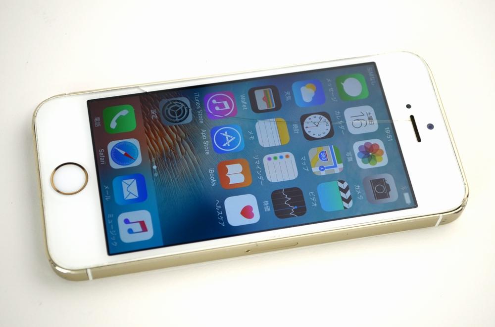 ガラス画面割れdocomo iPhone5s 32GB ME337J/A買取ました!ゴールド、ドコモiPhone買取福岡ジャンク品ジャパンまで!