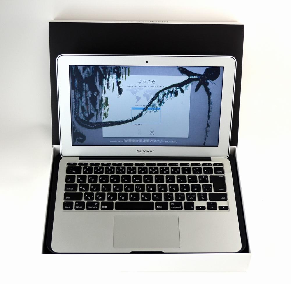 液晶割れMacBook Air 11inch,Mid 2011 MC969J/A買取