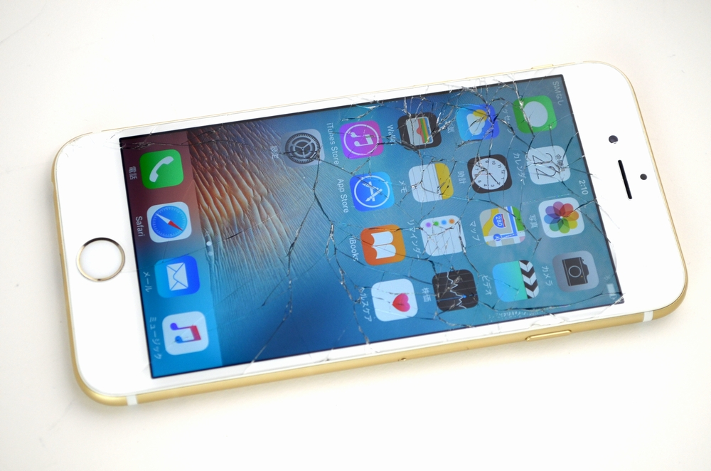 液晶画面割れ,壊れたSoftBank iPhone6買取ました!64GB MG4J2J/A ゴールド,iPhoneの買取は福岡博多ジャンク品ジャパン