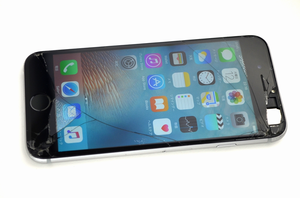 画面割れSoftBank iPhone6 128GB買取ました!MG4A2J/A スペースグレイ