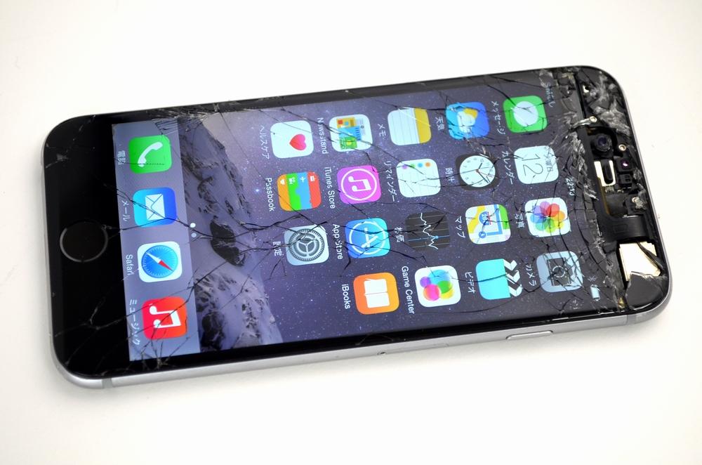 画面割れSoftBank iPhone6 64GB買取ました!MG4F2J/A スペースグレイ