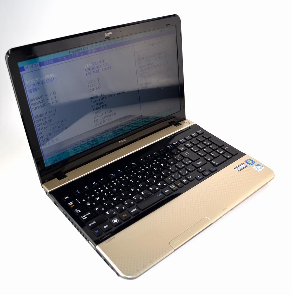 壊れたノートPC買取ました!NEC LS150/H PC-LS150HS6R、壊れたノートパソコンの買取はジャンク品ジャパンまで!
