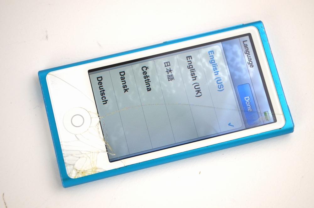 壊れたiPod nano買取ました!16GB MD477J/A 第7世代 ブルー、iPodの高価買取は福岡博多ジャンク品ジャパン