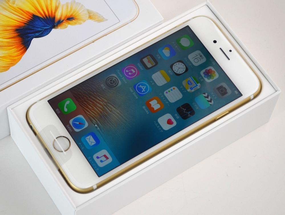 新品 au iPhone6s買取ました!64GB MKQQ2J/A ゴールド