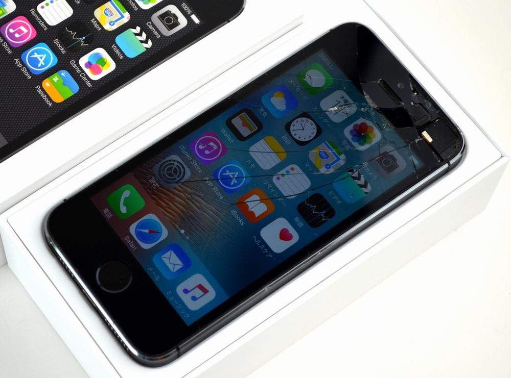 液晶割れ docomo iPhone5s 32GB買取ました!スペースグレイ ME335J/A