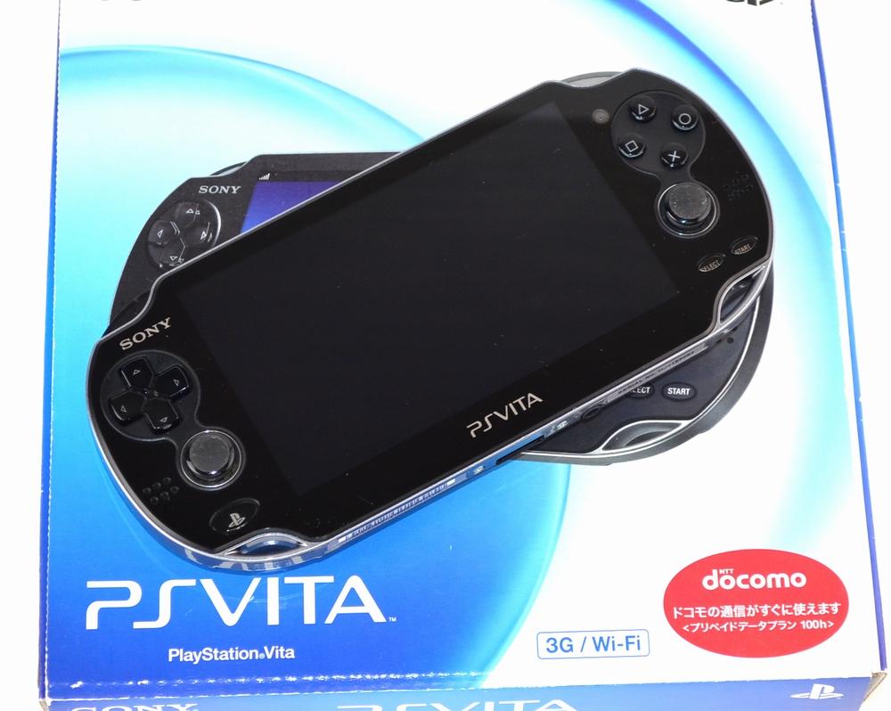 電源が入らないSONY PSVITA PCH-1100 AA01 3G/Wi-Fiモデル買取ました!
