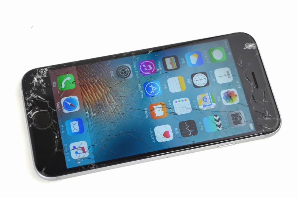 液晶割れ au iPhone6 128GB買取ました!MG4A2J/A スペースグレイ,福岡博多ジャンク品ジャパン