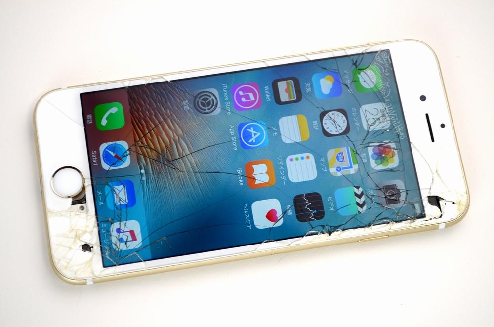 ガラス割れ iPhone6買取ました!SoftBank 16GB MG492J/A ゴールド