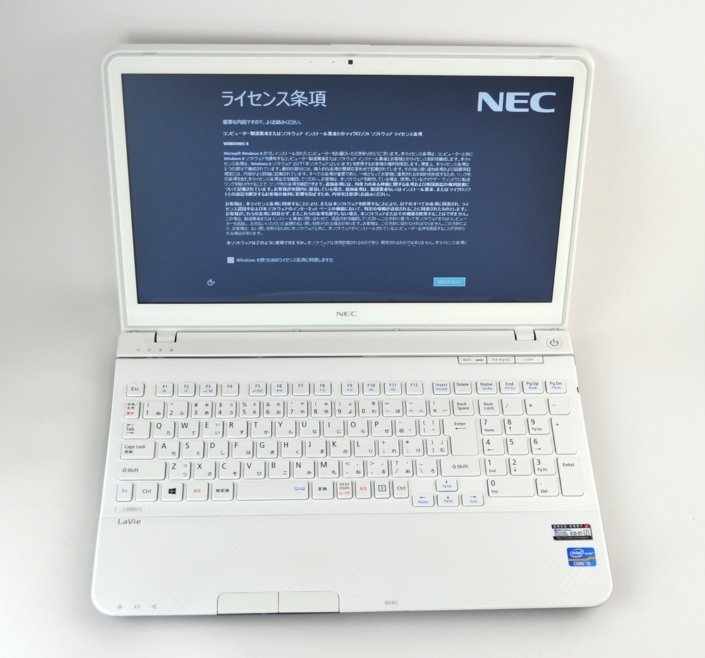 中古ノートPC買取ました!NEC PC-LS550LS1YW LS550/L Core i5 Win8