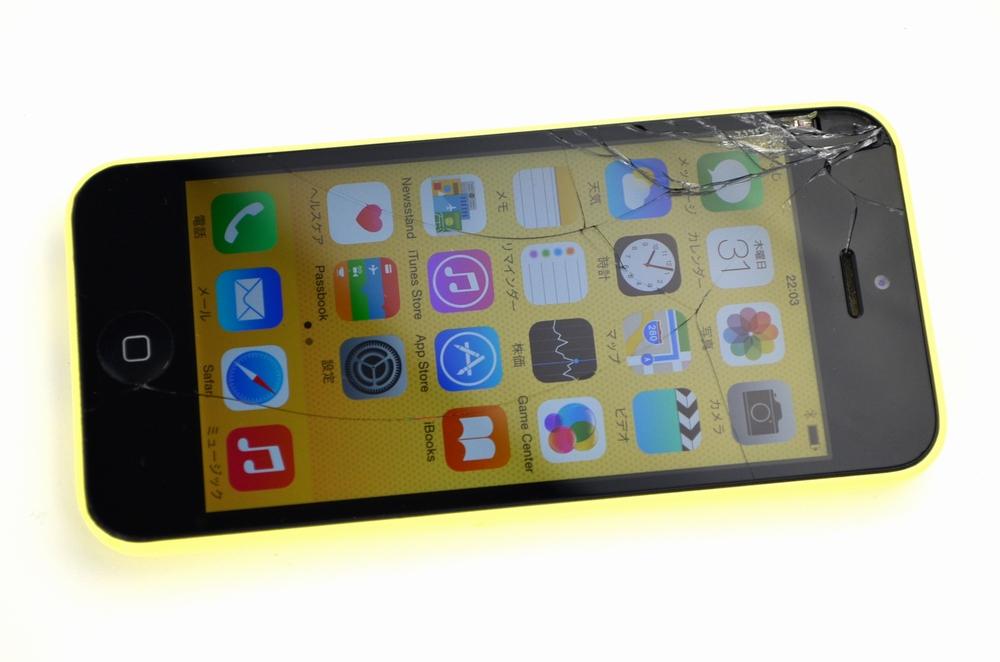 ガラス割れ SoftBank iPhone5c買取ました!32GB MF150J/A