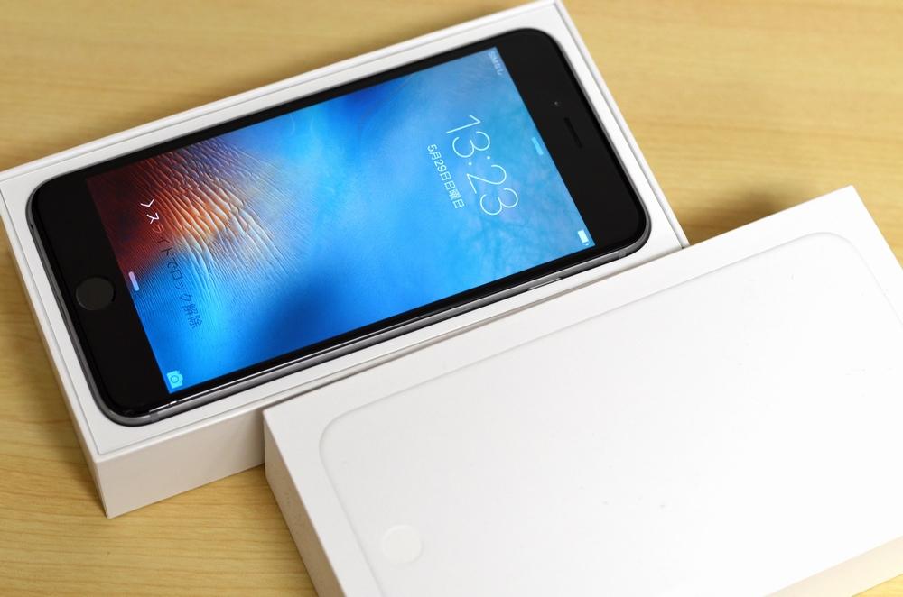 ガラス割れSoftBank iPhone6 Plus買取ました!16GB スペースグレイ MGA82J/A