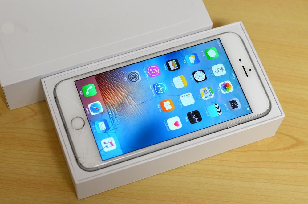 ガラス割れau iPhone6 Plus買取ました!128GB シルバー MGAE2J/A